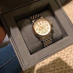 Michele watch  18 inches two tones